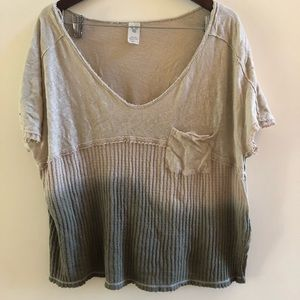 Free people ribbed jersey slouchy tee